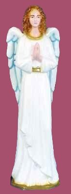36 inch Outdoor Nativity Standing Angel - Full Color Finish