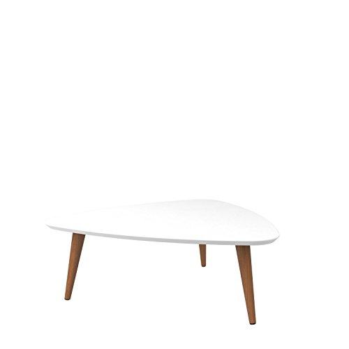 Manhattan Comfort 89251 Utopia Low Triangle Coffee Table, White Gloss by Manhattan Comfort