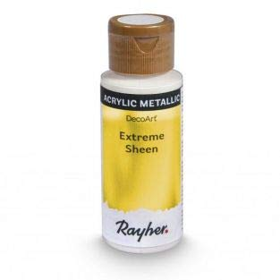 Rayher 35014616 Extreme Sheen Metallic Paint, Acrylic Paint with Shimmer Effect, Gold, 59ml -