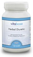 Herbal Diuretic 100 Vegicaps per Bottle (5 Pack) by Vitabase