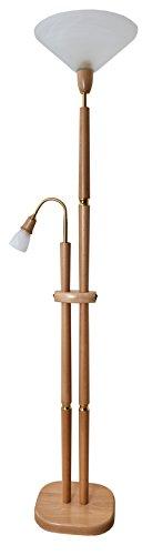 Laue Leuchten 7062s A To E Deckenfluter Holz 60 W E27 Buche