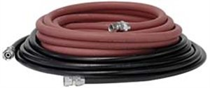 Binks 25 Foot Set of Air and Fluid Hose Assembly With Fittings For Pressure Tanks - - Fluid 1 Assembly