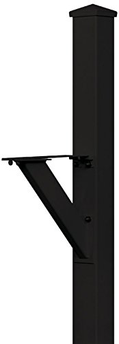 (Salsbury Industries 4825BLK In-Ground Mounted Post Modern Decorative Mailbox, Black)