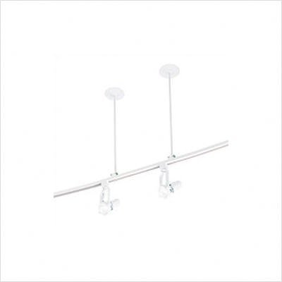 WAC All Track System and Lighting Single Circuit Suspension Kit - White - SK11-WT - 48""