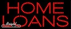 Home Loans LED Sign - 27 x 11 x 1 inches - Made in USA