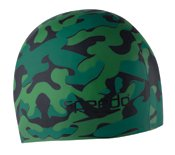 Cq Poker Speedo Silicone Junior 'Camo' Swim Cap, Green