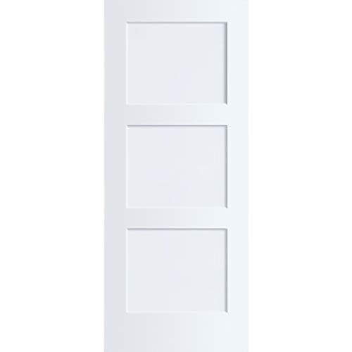 3-Panel Door, Kimberly Bay Interior Slab Shaker White (30x80)