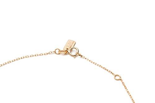 Paillettes-«smile» collier-cm. 42.0-réglable 2cm.-Dimension pendentif 10,0mm (avec zirconium noirs)-Or jaune Tit. 9K-375/1000