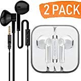 AURAL 2-Pack Premium Earphones/Earbuds/Headphones with Stereo Mic&Remote Control Compatible for iPhone iPad iPod