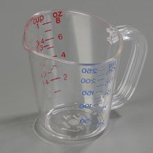 Cup Size Clear Polycarbonate Commercial Measuring Cup -- 12 per case