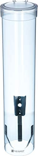San Jamar C3165TBL C3165FBL Medium Pull Type Water Cup Dispenser, Fits 4 to 10 oz Cone and Flat Bottom Cups, 1