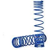 (Traxxas 8445A GTR Rear Shock Springs Progressive, Blue)