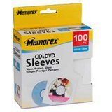 - Memorex 100pk Paper Sleeves Wht Cd/Dvd W/Window And Back Flap