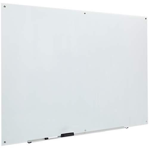 AmazonBasics Glass Dry-Erase Board - White, Magnetic, 6' x 4'