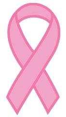 Pink Ribbon Temporaray Tattoo (10 Pack) -