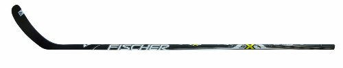 Fischer Hockey Senior SX7 Matt Composite Stick, 110 Flex, 63-Inch, Black with Sulfur, Left, P32