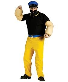 [Popeye, Brutus Adult Costume (One SIze)] (Popeye Plus Size Adult Mens Costumes)