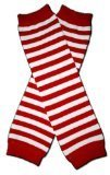 THIN RED & WHITE STRIPES (CHRISTMAS) - Baby Leg Warmers (Red And White Striped Leg Warmers)