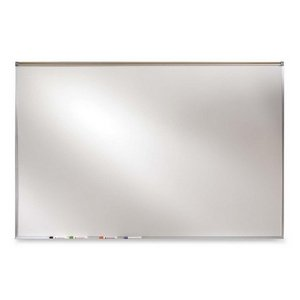Ghent 36.50 x 48.50 Inches Aluminum Frame Porcelain Magnetic Projection Whiteboard with 1-Inch Maprail (PRM1-34-4) by Ghent