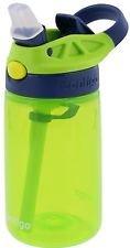 Contigo Kids Autospout Gizmo Water Bottles, 14oz (Cherry Blossom, Persian Green, & Lavender) by Contigo