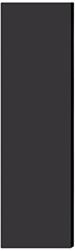 Salsbury Industries 33333DE-BLK Double End Side Panel for 18-Inch Deep Designer Wood Locker without Sloping Hood, Black by Salsbury Industries