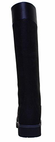 Timberland - Botas de cuero para mujer marrón marrón Black FV1