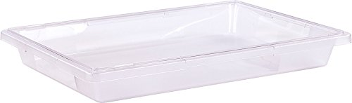 Carlisle 1062007 StorPlus Stackable Food Storage Container, 5 Gallon Short, Clear (Pack of 6) by Carlisle