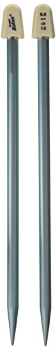 Susan Bates 10-Inch Silvalume Single Point Knitting Needle, 9mm, Blue (11110-13)