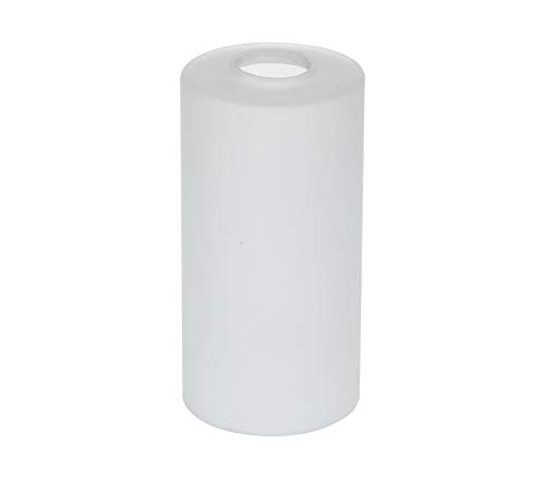 "GoLucky White Cylinder Frosted Glass Shade Accessory Glass Lamp Fixture Shade Replacement Glass Pieces with 1-5/8-Inch Fitter 4""(D)5.5""(H) Multiple Specifications"