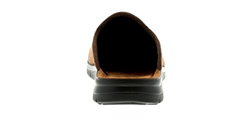 INBLU Neu Herren/Herren Braun reynold 2 Leder Slipper Hausschuhe - Braun - UK Größen 6-12