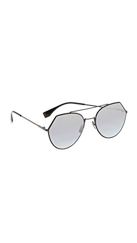 Fendi Women's Aviator Sunglasses, Black/Grey Azure Silver, One - Shopbop Sunglasses
