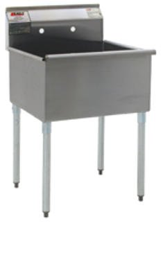 Eagle Mhc, Non Nsf One Compartment Sinks, Econ-Sink-Y, Bowl Size Wxl: 21 X 36, Overall Size W X D : 37 3/8 X 25, 2136-1-16/4 - Nsf Eagle
