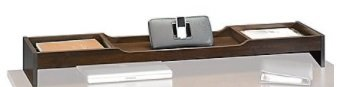 Sauder Forte Collection Desktop Organizer, 5 1/4''H x 48 3/8''W x 10 3/8''D, Dark Alder by Sauder