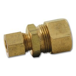 "3/8"" X 1/4"" Brass Compression Reducer Union"
