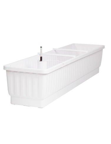 39'' Self-Watering Windowbox, White by Gardener's Supply Company