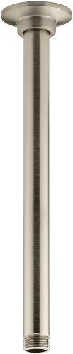 (KOHLER K-7392-BV 12-Inch Ceiling Mount Showerarm, Vibrant Brushed Bronze)