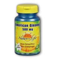 American Ginseng, 500 mg, 50 caps by Nature's Life (Pack of 3)