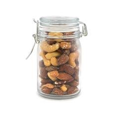 Deluxe Mixed Nuts, Wire Mason Jar 24ct/5.0oz by In-Room Plus, Inc.