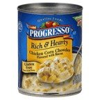 Progresso Rich & Hearty Chicken Corn Chowder Flavored with Bacon Soup 19 oz (Pack of 12)
