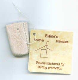 Elaine's Leather Thimble - Small by Elaine's