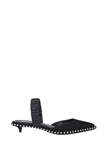Alexander 3049p0014s001 Cuero Negro Sandalias Wang Mujer wHOTC