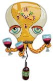 Allen Designs `Happy Hour` Octopus Pendulum Wall Clock