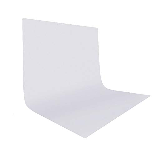(UTEBIT 10x12 White Polyester Photography Backdrop Large 3x3.6M Headshot Photo Background Wrinkle Resistant Collapsible Backdrops Screen for Video Studio Portrait Shooting (Stand Not Included))