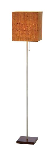 Adesso 4085-15 Sedona Floor Lamp, Smart Outlet Compatible, 11'' x 11'' x 56'', Walnut