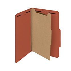 2 Pressboard Divider (Smead 100% Recycled Pressboard Classification File Folder, 1 Divider, 2