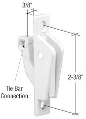 CRL White Truth Casement Cam Lock With Tie Bar Connection
