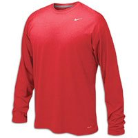 (Nike Legend Long Sleeve Dri-Fit Tee T-Shirt Training Red Size)