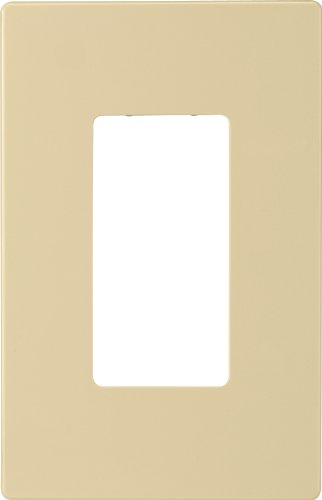 Eaton PJS26V Decorator Screwless Wallplate, 1-Gang, Ivory (Ivory Switch Plate)