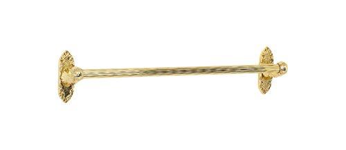 Alno A8520-18-PB Ribbon & Reed Traditional Towel Bars, Polished - Brass Polished Ribbon Pb