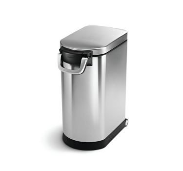 simplehuman Large Pet Food Storage Can, Brushed Stainless Steel,...